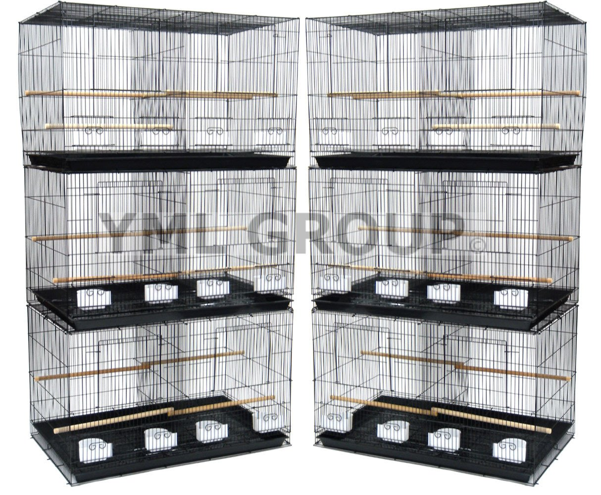 YML Group 6x2434BLK Lot of 6 Small Breeding Cages with Divider, Black from YML Group