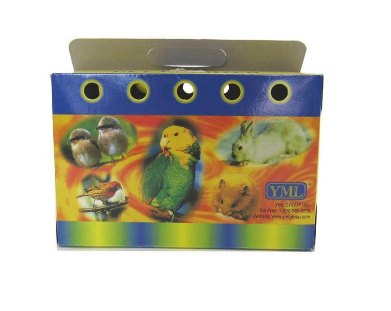 YML Group 8103 Lot of 10 Cardboard Carrier for Small Animals or Birds, Large from YML Group