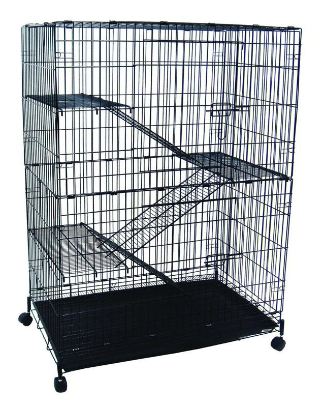 YML Group CT52 4 Levels Small Animal Chichilla Cat Ferret Cage In Black from YML Group