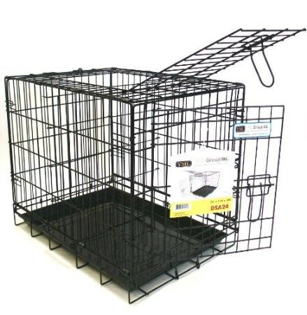 "YML Group DSA24 24"" Foldable Heavy Duty 2 Door Dog Crate from YML Group"