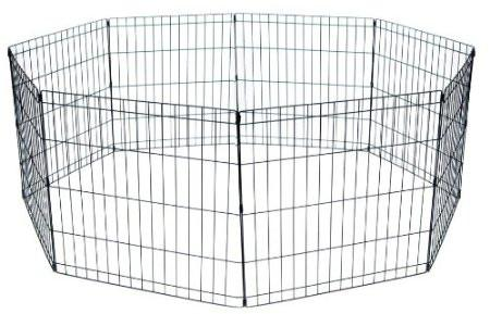 "YML Group PP2448 Animal Play Pen With Door 24"" x 48"" - 8 Panels Black from YML Group"