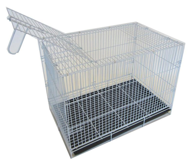 "YML Group SA20G 20"" Small Animal,Dog Kennel Cage With Bottom Grate, White Body with Black Tray from YML Group"