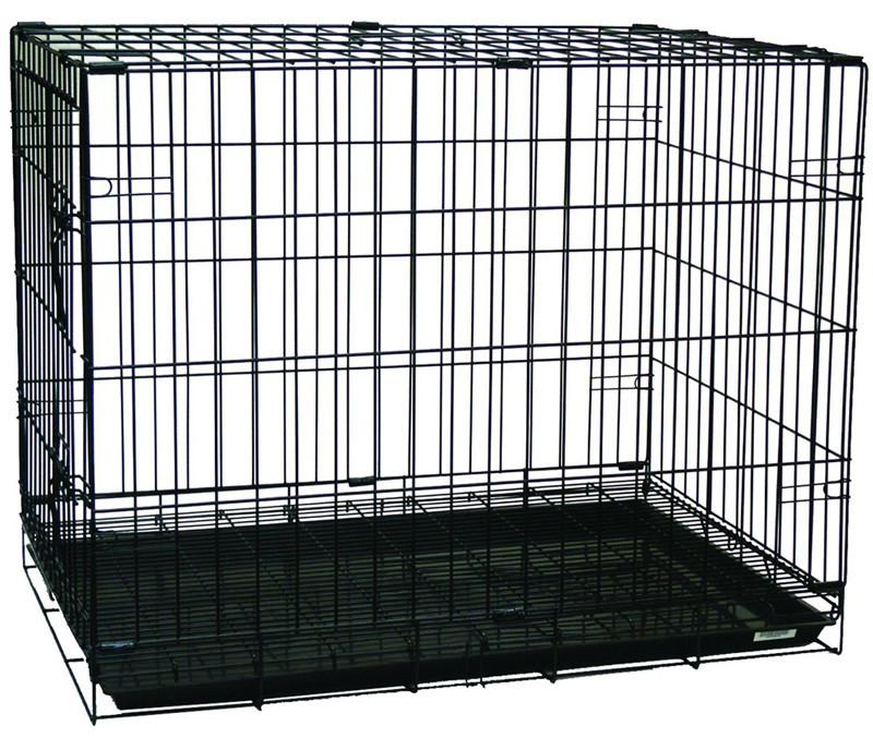 "YML Group SA30G 30"" Dog Kennel Cage With Bottom Grate, Black from YML Group"