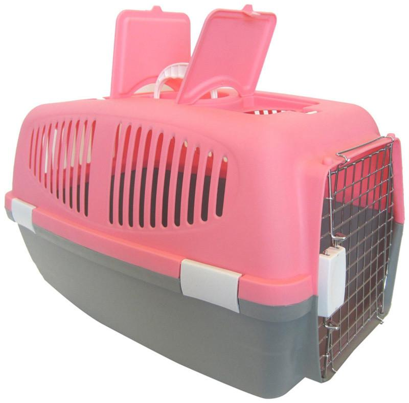 YML Group Z100L-PK Large Plastic Carrier for Small Animal, Pink from YML Group