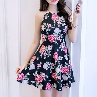Sleeveless Floral Dress from Yilda