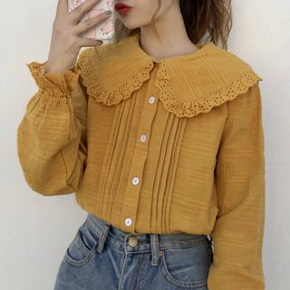 Peter-Pan-Collar Blouse from Yoshimi