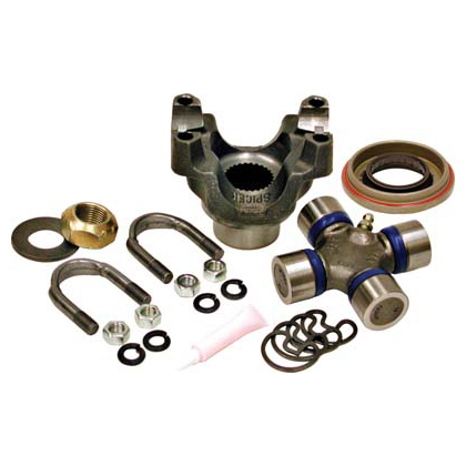 New 1972 GMC G15-G1500 Van Differential End Yoke - Rear Set G15/G1500 Van - Dana 44 - Trail Repair Kit - Includes Yoke, Greasable 1350 U-Joint, Strap from Yukon Gear