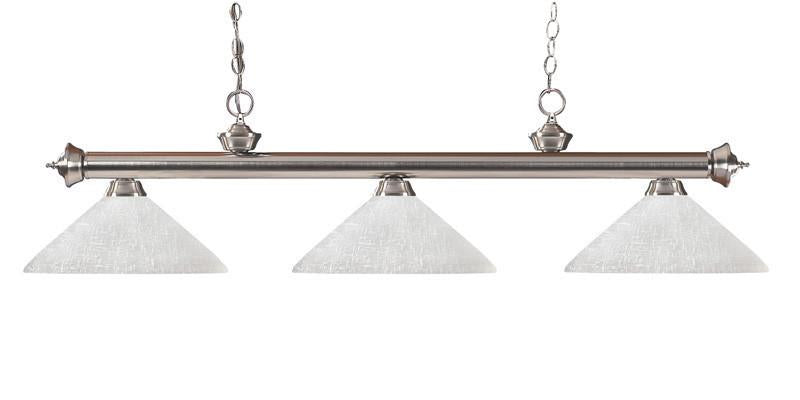 Z-Lite 100703bn-awl14 Riviera Brushed Nickel Collection 3 Light Billiard from Z-Lite