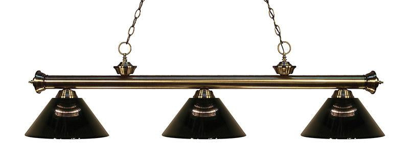 Z-Lite 200-3AB-ARS 3 Light Billiard Light from Z-Lite