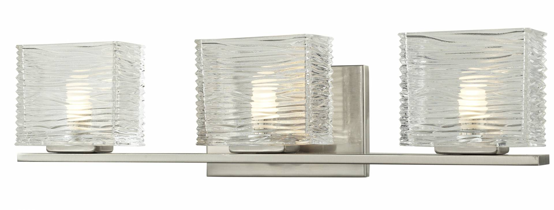 Z-Lite 3024-3V-LED Jaol Collection Brushed Nickel Finish 3 Light Vanity Light from Z-Lite