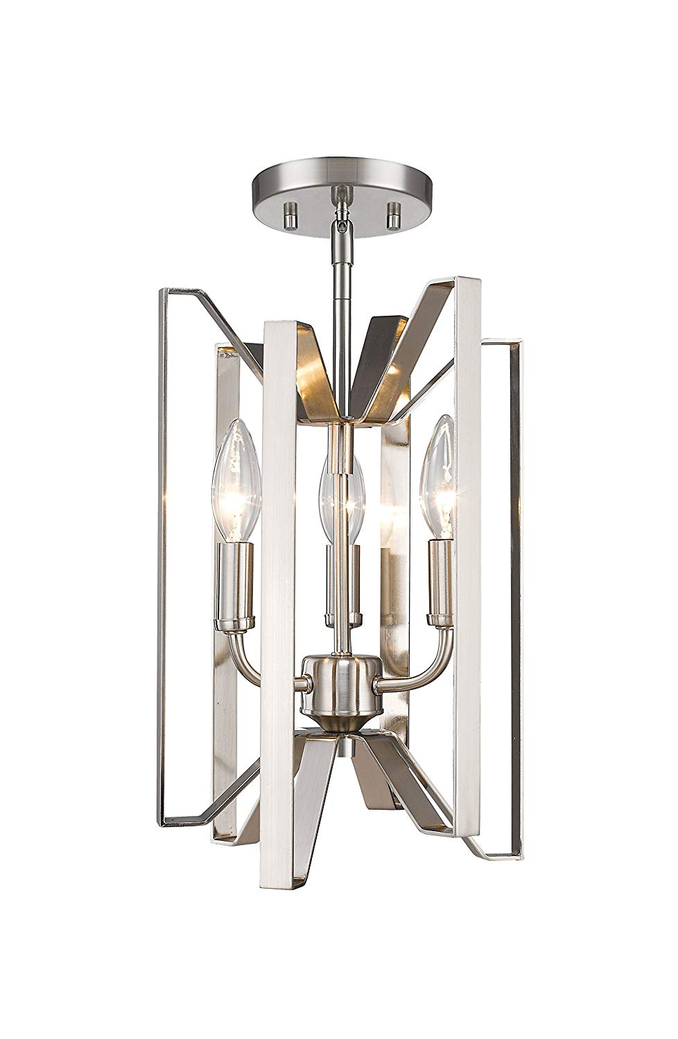 Z-Lite 4000SF-BN 3 Light Semi Flush Mount 3 from Z-Lite