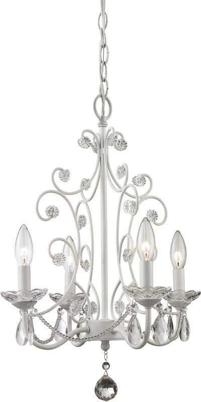 Z-Lite 419WH 4 Light Mini Chandelier from Z-Lite
