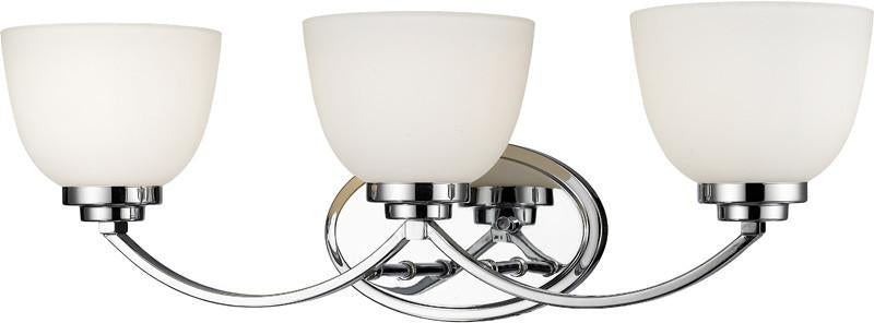 Z-Lite 443-3V-CH 3 Light Vanity Light Ashton Collection Matte Opal Finish from Z-Lite