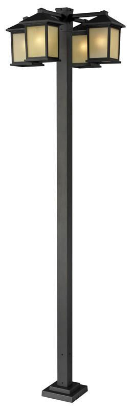 Z-Lite 507-4-536p-orb Holbrook Collection 4 Head Outdoor Post from Z-Lite