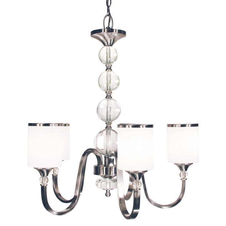 Z-Lite Cosmopolitan Collection Brushed Nickel Finish Five Light Chandelier from Z-Lite