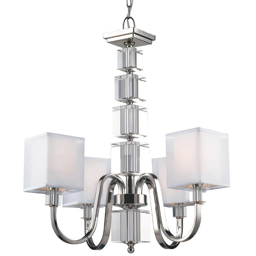 Z-Lite Drake Collection Brushed Nickel Finish Four Light Chandelier from Z-Lite