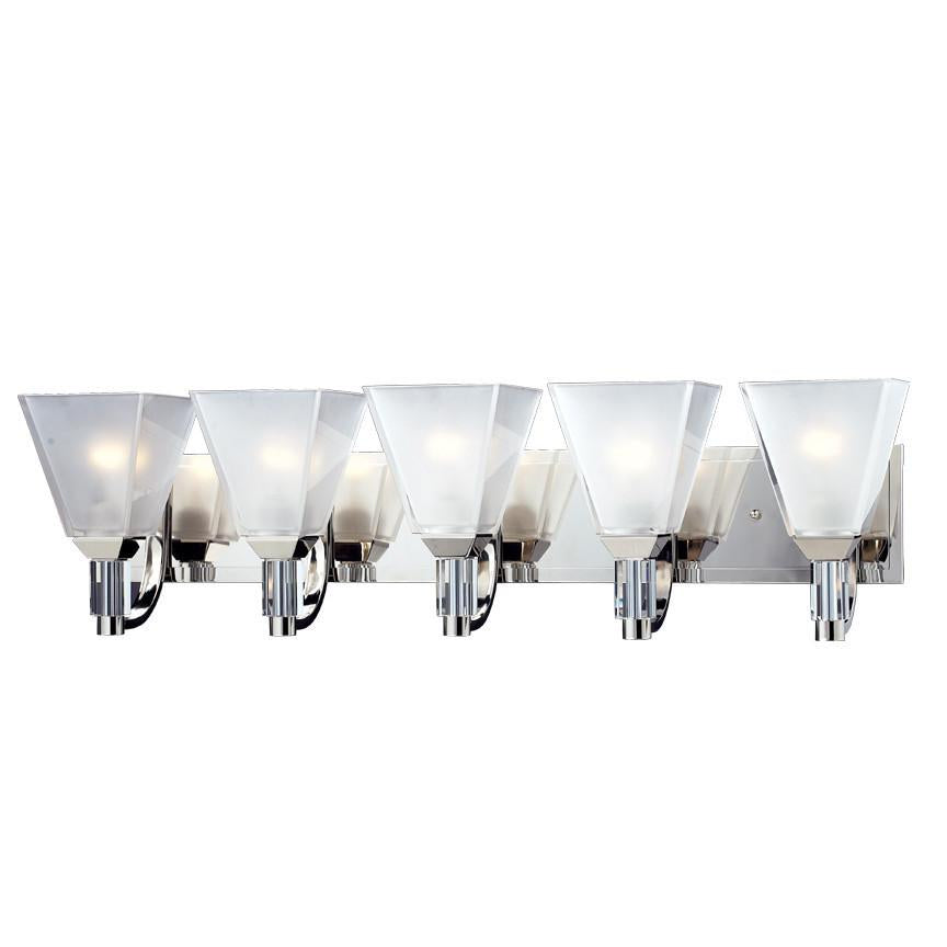 Z Lite Luxe Collection Chrome Finish Five Light Vanity Light from Z-Lite