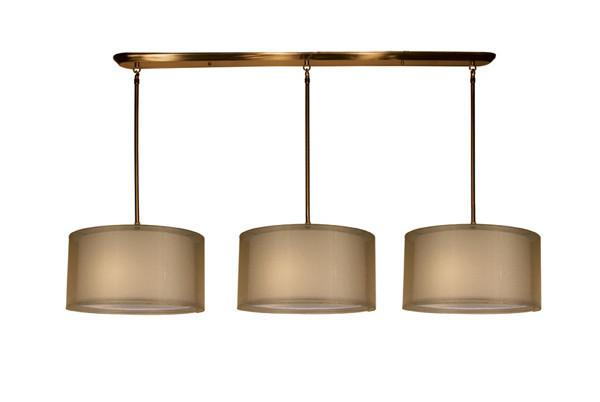 Z-Lite Nikko Collection Antique Brass/Gold Finish 9 Lights Island/Billiard from Z-Lite