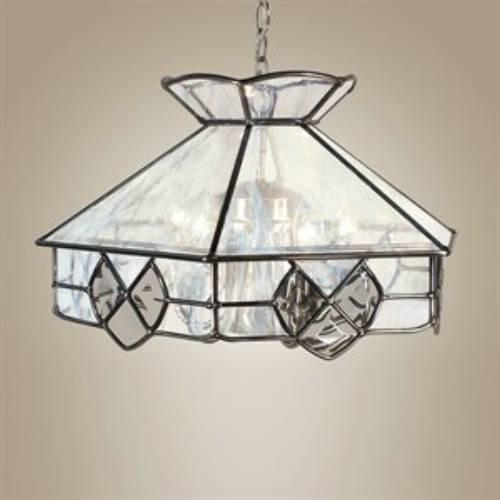 Z-Lite Quartz Collection Pewter Finish Six Light Pendant from Z-Lite