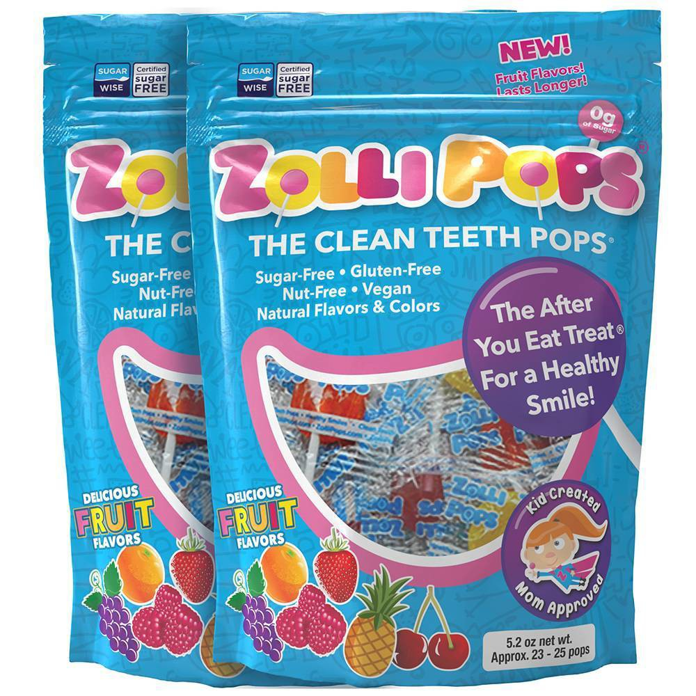 Zolli Pops Sugar Free Lollipops Candy Double - 5.2oz from Zolli