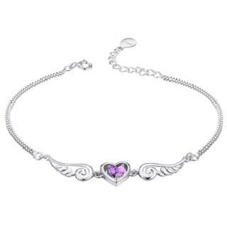 Sterling Silver Heart Bracelet from Zundiao