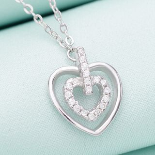 Sterling Silver Heart Necklace from Zundiao