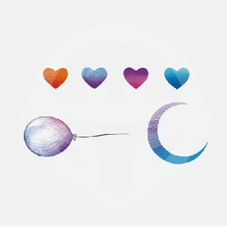 Heart Balloon & Moon Waterproof Temporary Tattoo As Shown In Figure - One Size from abecome