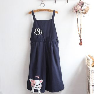 Dog Applique Jumper Pants from akigogo