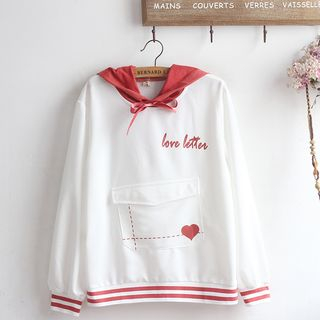 Lettering Hoodie from akigogo