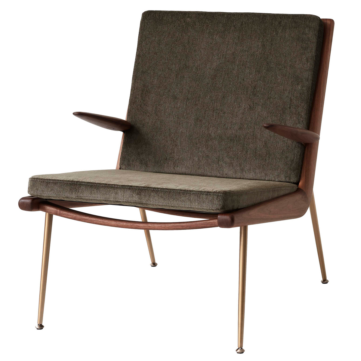 &Tradition Boomerang HM2 lounge chair, Duke 004 - oiled walnut from &Tradition