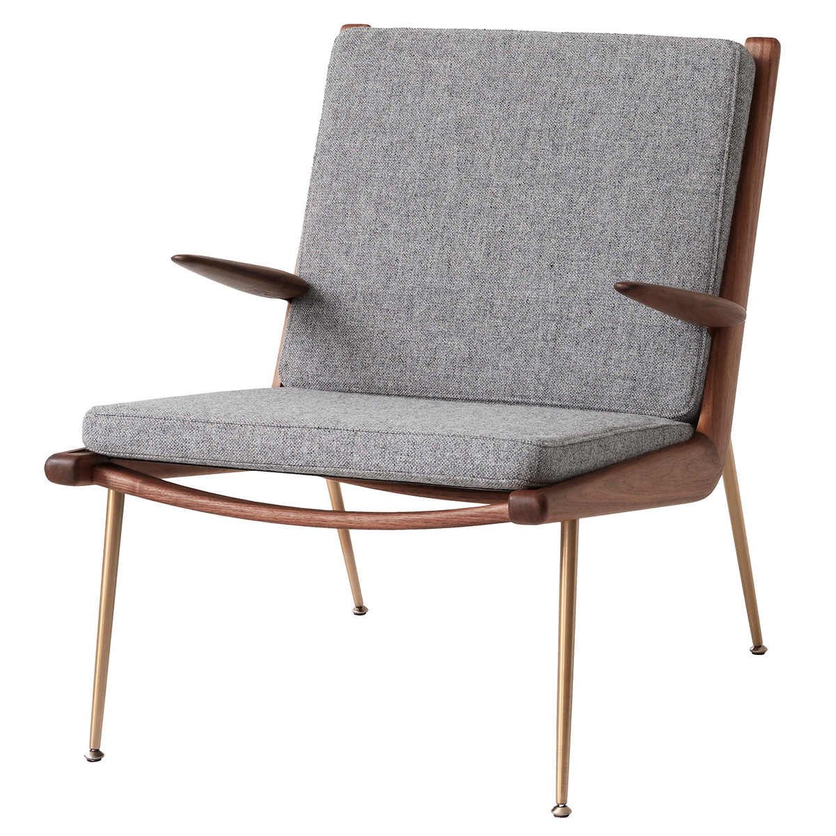 &Tradition Boomerang HM2 lounge chair, Hallingdal 130 - oiled walnut from &Tradition