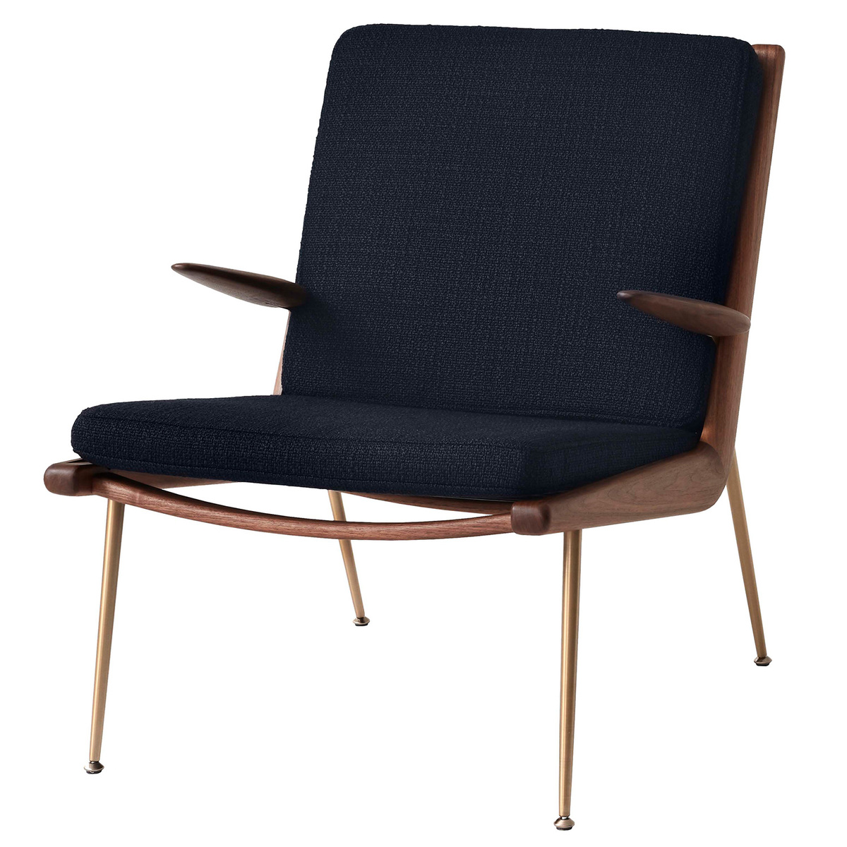 &Tradition Boomerang HM2 lounge chair, Loop Marine - oiled walnut from &Tradition