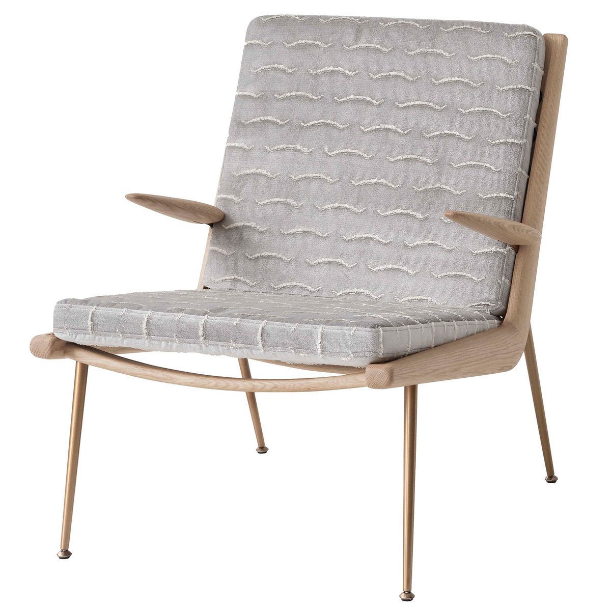 &Tradition Boomerang HM2 lounge chair, Nouvelles Vagues - white oiled oak from &Tradition