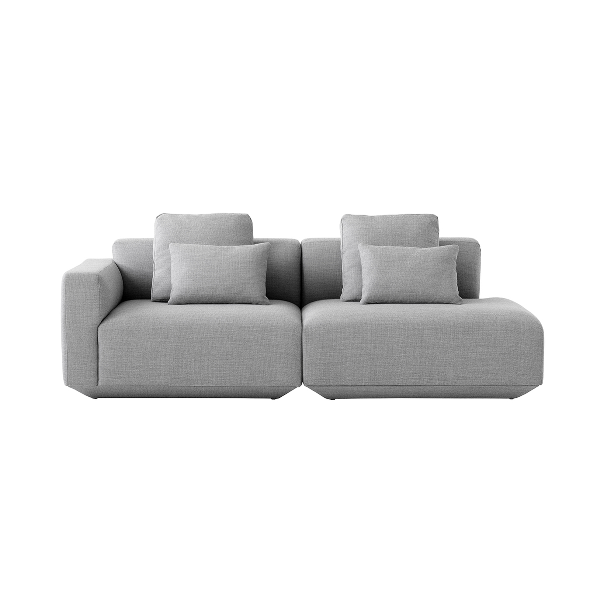 &Tradition Develius G modular sofa with cushions, Fiord 151 from &Tradition