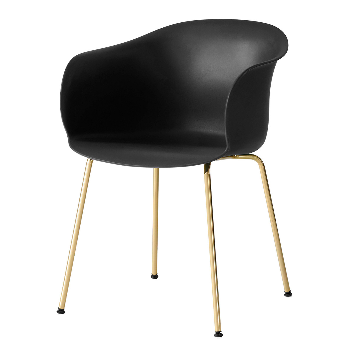 &Tradition Elefy JH28 chair, black - brass from &Tradition