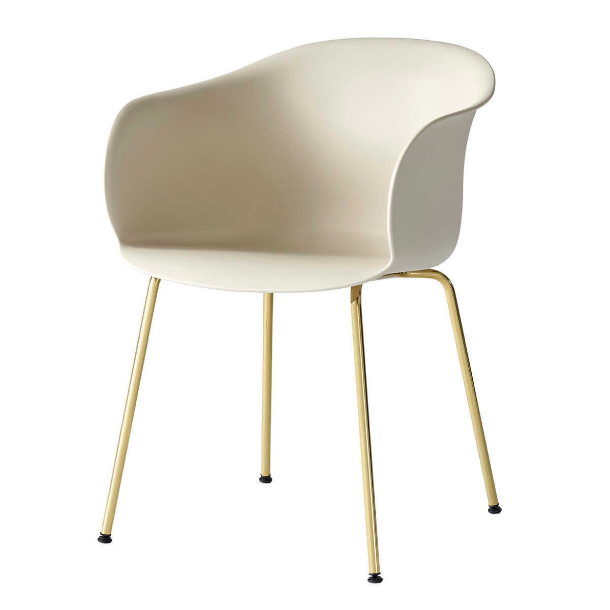 &Tradition Elefy JH28 chair, soft beige - brass from &Tradition
