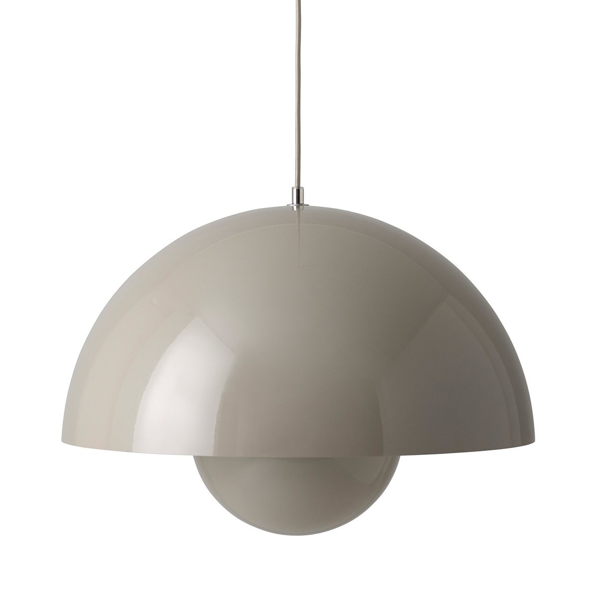 &Tradition Flowerpot VP2 pendant, grey beige from &Tradition