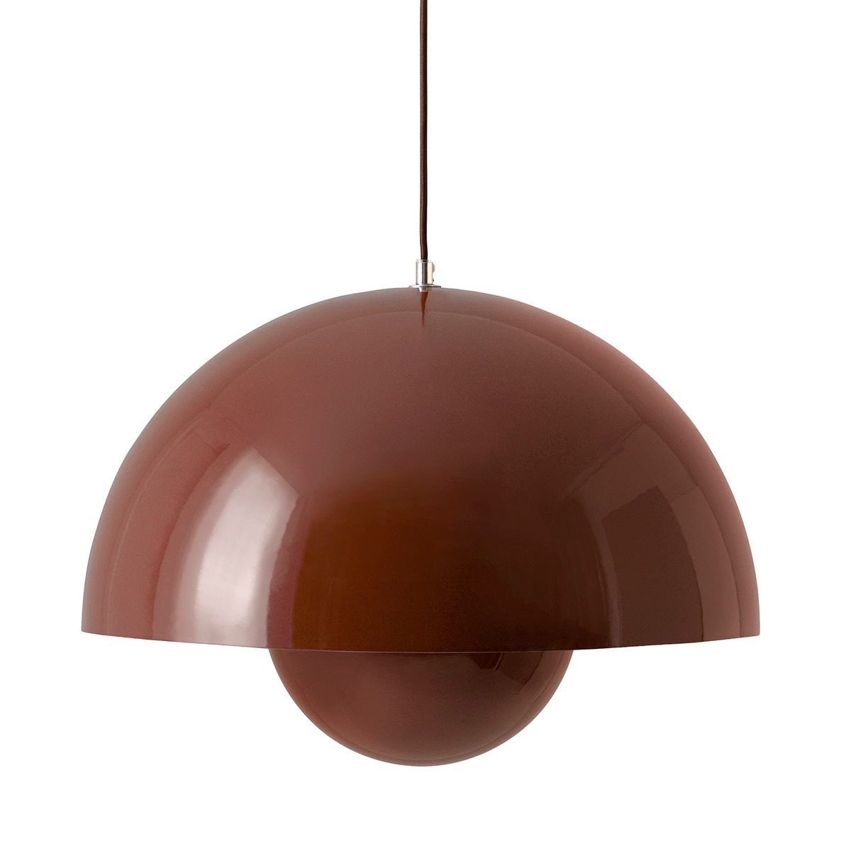 &Tradition Flowerpot VP2 pendant, red brown from &Tradition