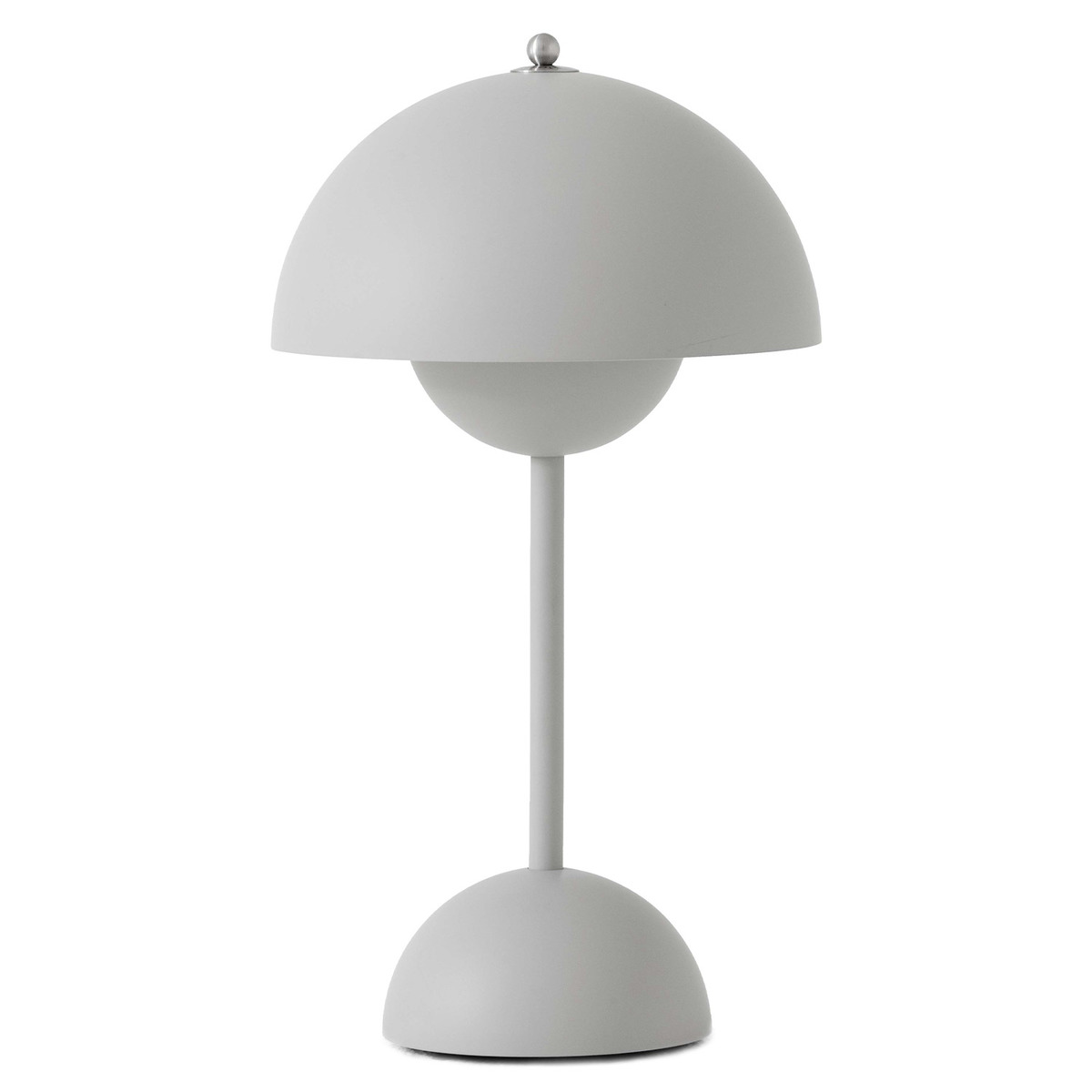 &Tradition Flowerpot VP9 portable table lamp, matt light grey from &Tradition