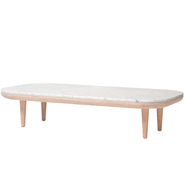 &Tradition Fly SC5 coffee table, white oiled oak - Carrara marble from &Tradition