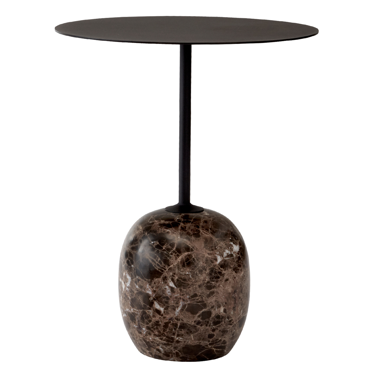 &Tradition Lato LN8 coffee table, black - Emperador marble from &Tradition
