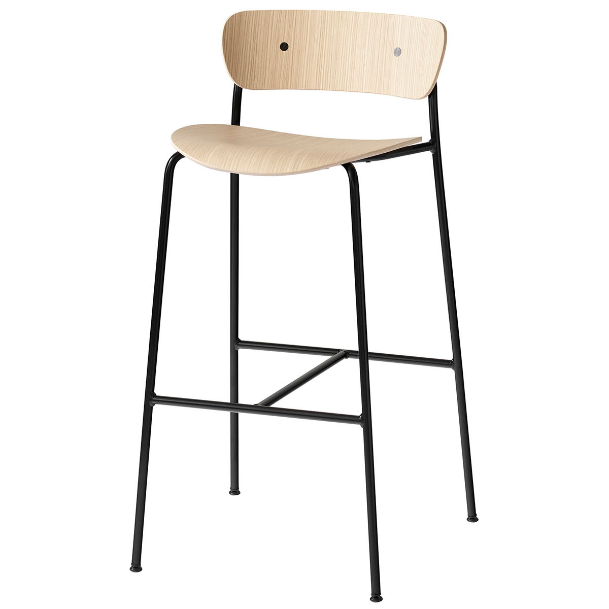 &Tradition Pavilion AV7 / AV9 bar stool, lacquered oak from &Tradition