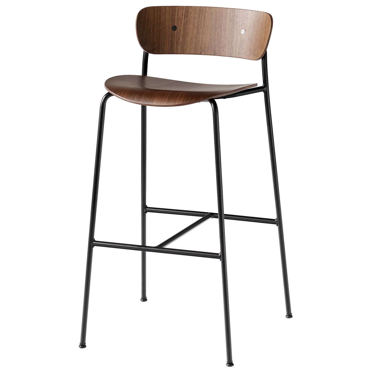&Tradition Pavilion AV7 / AV9 bar stool, lacquered walnut from &Tradition