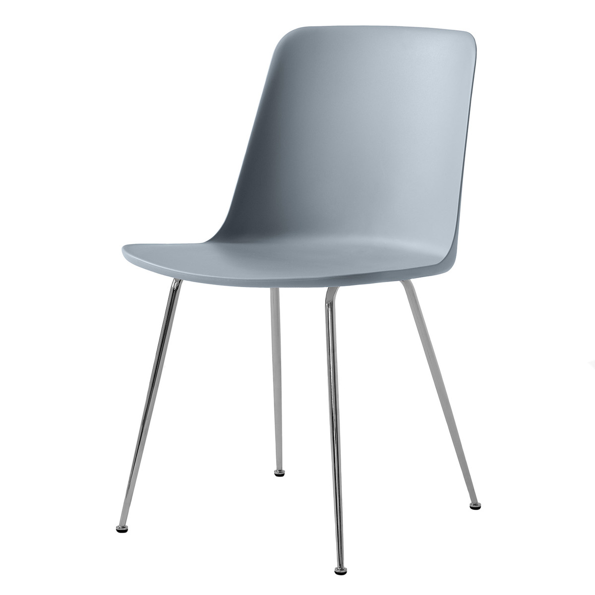 &Tradition Rely HW6 chair, chrome - light blue from &Tradition