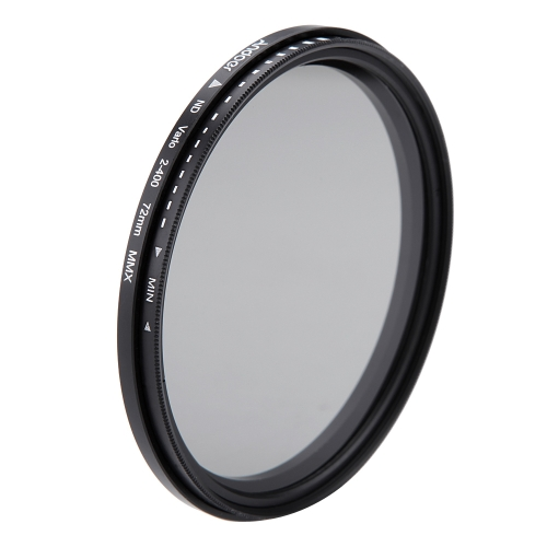 Andoer 72mm ND Fader Neutral Density Adjustable ND2 to ND400 Variable Filter for Canon Nikon DSLR Camera from andoer