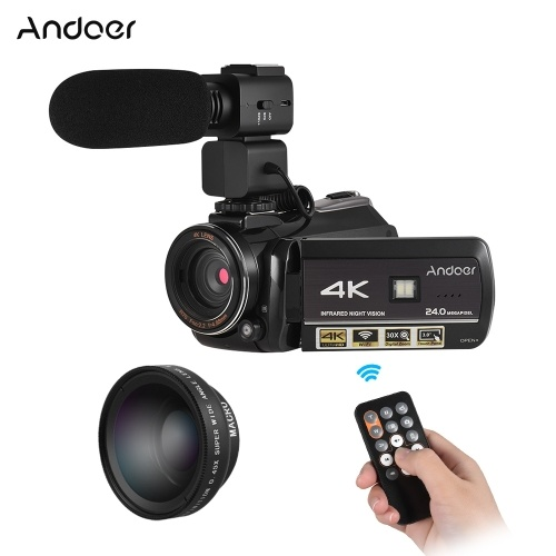 Andoer AC3 4K UHD 24MP Digital Video Camera Camcorder from andoer