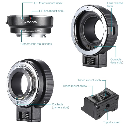 Andoer EF-EOSM Lens Mount Adapter from andoer