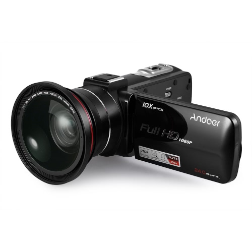 Andoer HDV-Z82 1080P Full HD Digital Video Camera Camcorder from andoer