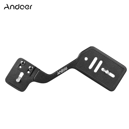 "Andoer Universal Aluminum Bracket Mount Holder for Camera Speedlite Flash Light with 1/4"" Screw for Canon Nikon Sony DSLR Cameras from andoer"