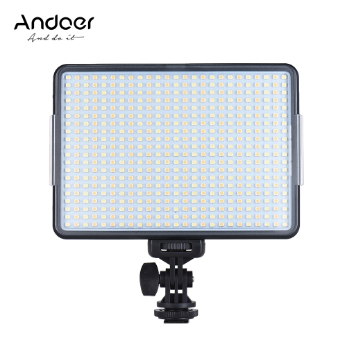 Andoer W500 Professional Dimmable LED Video Light Fill Light from andoer